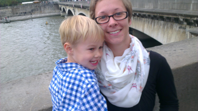 Sightseeing Paris with my Little Man