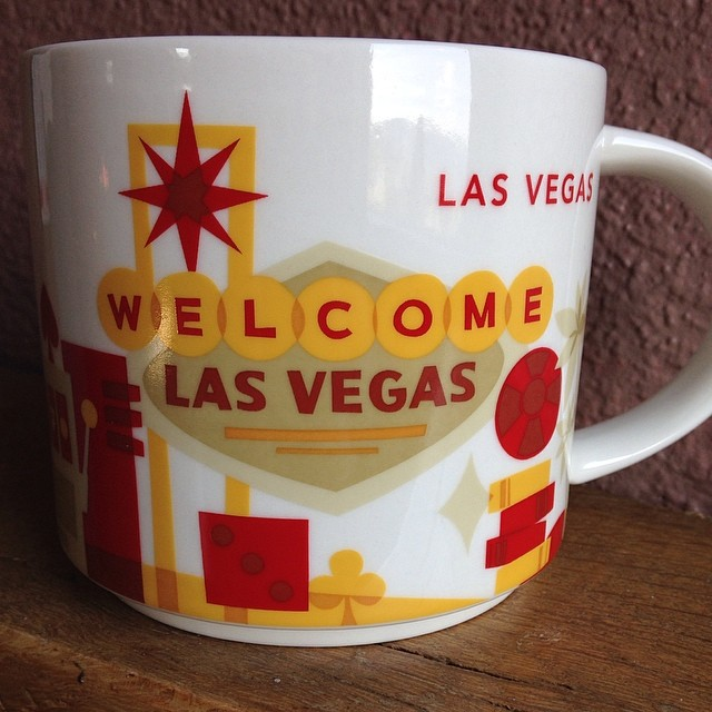 Yessssss!!! Finally got my coffee cup from my mom so I have a little piece of home. #vegasbaby #ilovemymom #expat #expatlife