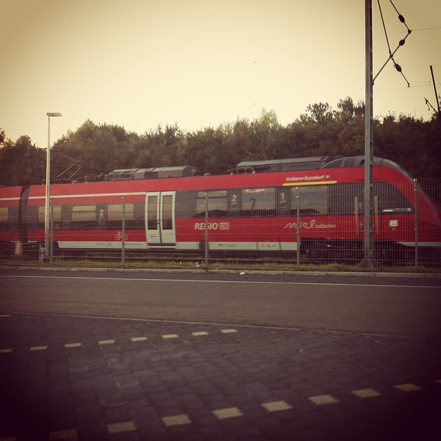 Waiting to pick up Papa #germany #expat #trains