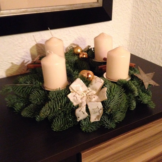 Adventskranz 🎄🎄🎄#christmas #expat #germany
